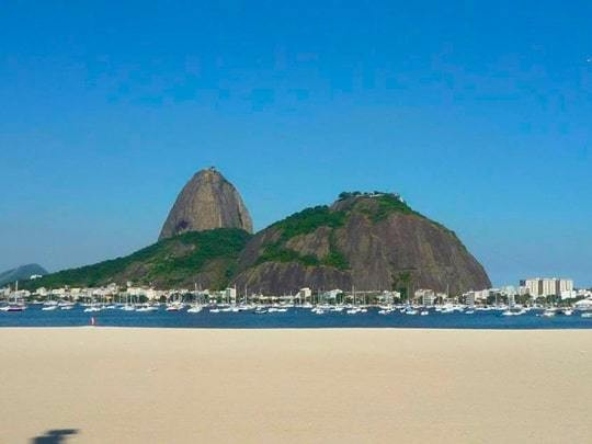 A View Of Sugar Loaf Mountain From The Beach