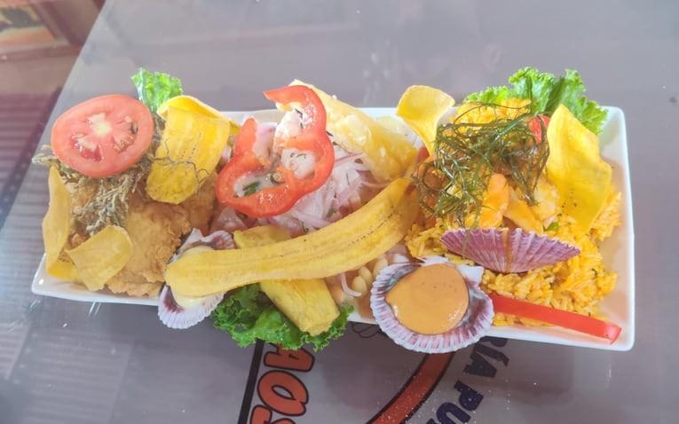 Street food ceviche in Peru