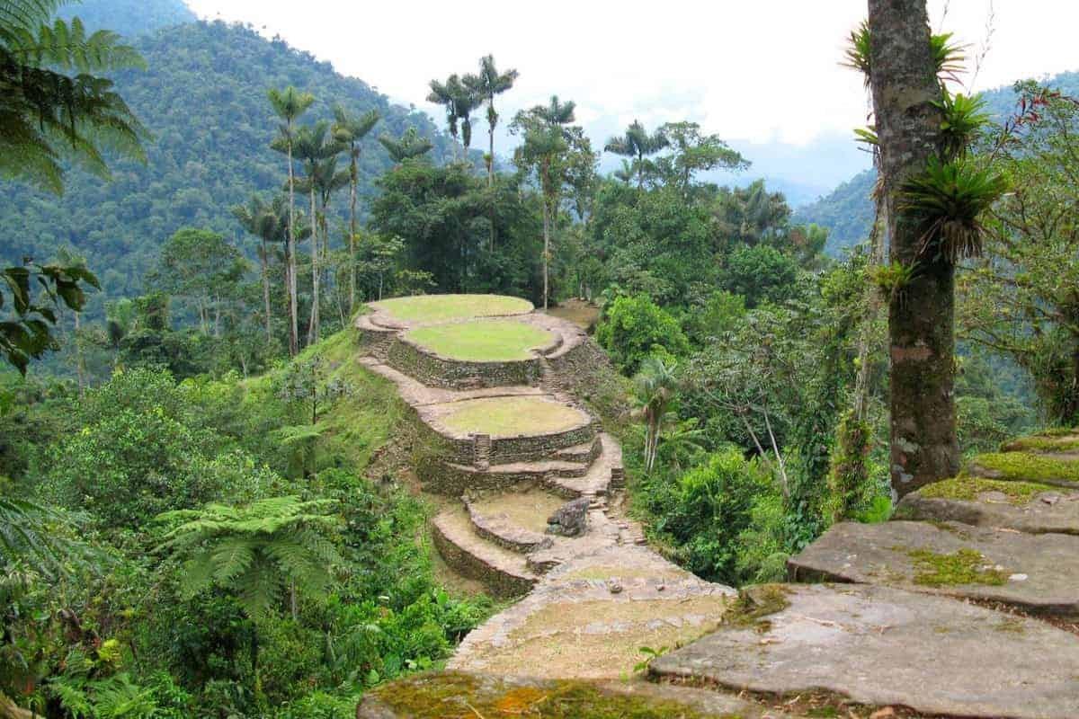 The Lost City 'La Ciudad Perdida' in Colombia.