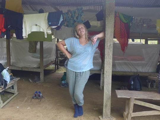 The trekking huts Colombia