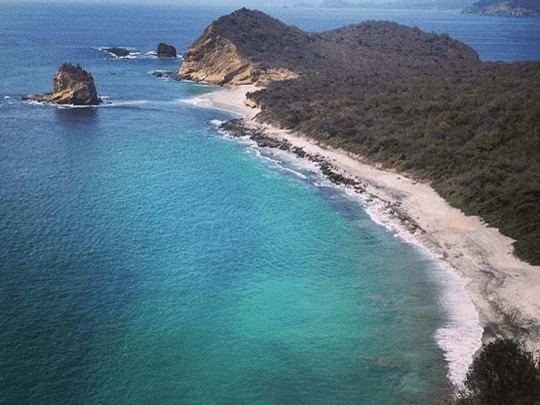 Los Frailes beach seen from above