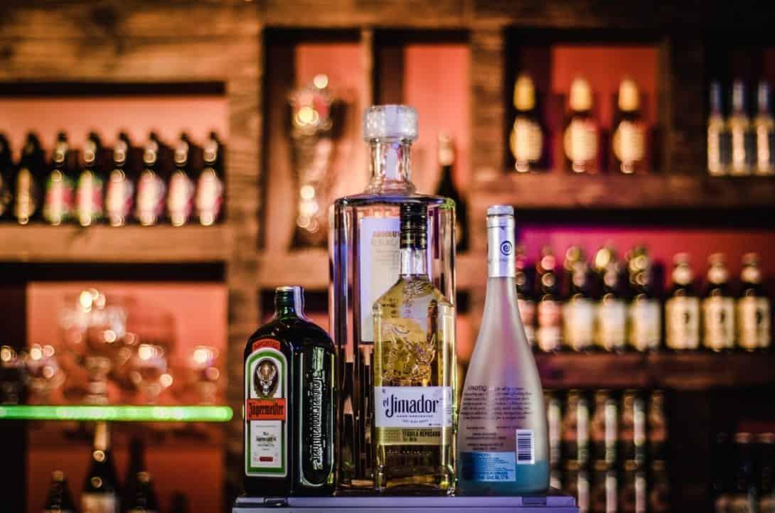 Spirits on a bar