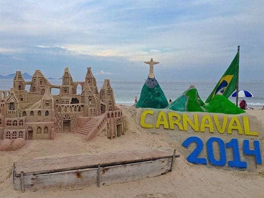 A Carnaval Scene Built Out Of Sand in Rio