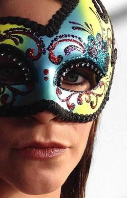 A Woman Wearing A Mask For Carnaval
