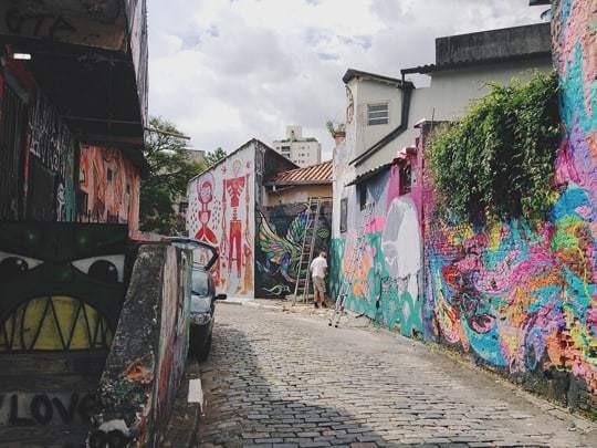 Batman Alley, Covered in Grafitti
