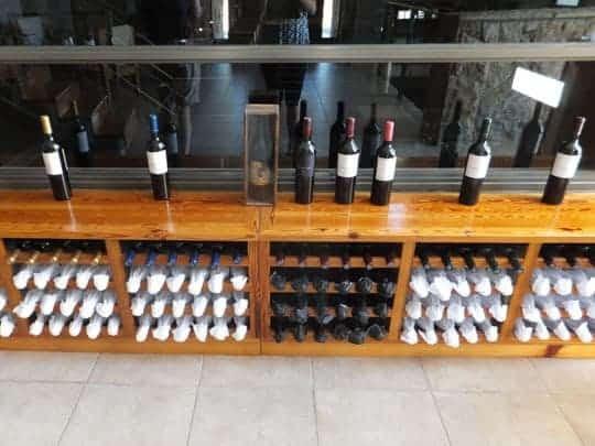 Wine stash at Tempus Alba