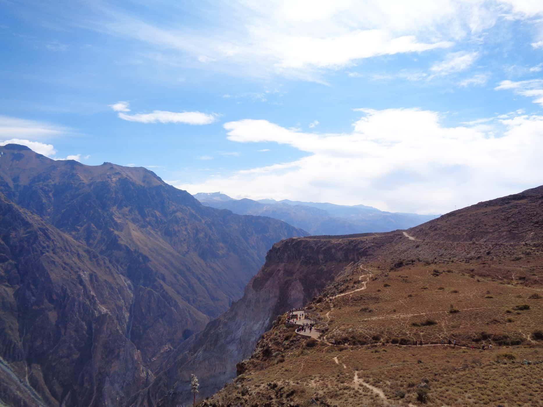 Colca Canyon views from Cross of the Condor Mirador