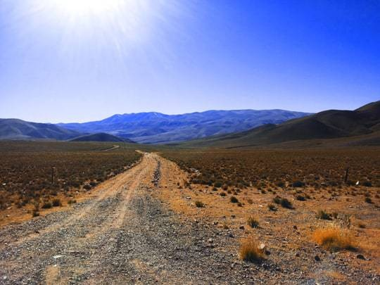 A Road With A Very Rough Surface in Argentina