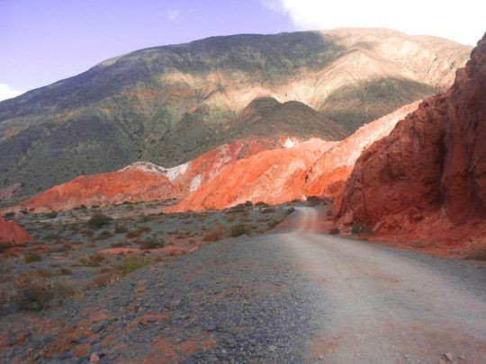 Red Hills Next To The Road to Cierro Siete Colores
