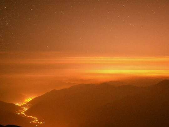 EDIT - august 2013, Peru, night view over the way to Lima from the central Sierra