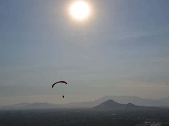 EDIT - december 2013, Chili, paragliding over Santiago