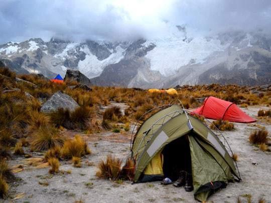 EDIT - september 2013, Peru, Cordillera Blanca, base camp for the climbing route'Sphinx'