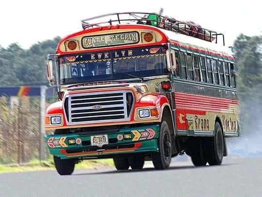 A Colourful Bus