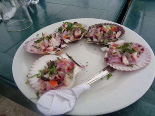 A Plate of Clams in Peru