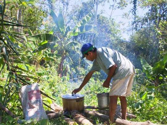 The Shaman Cooks Up The Ayahuasca Brew
