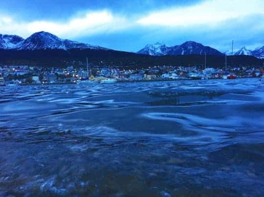 A View of Boats at Dusk in Ushuaia