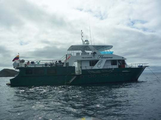 A Boat On Its Way To The Galapagos Islands