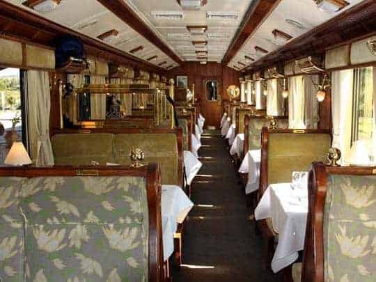 Inside the Hiram Bingham Express