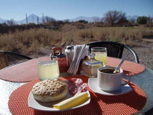 Breakfast at Tatais Lodge, With Countryside in the Background at San Pedro de Atacama