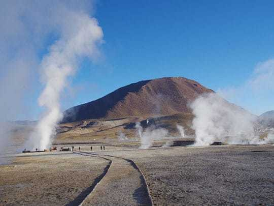 Steaming Geysers in El Tatio, San Pedro de Atacama