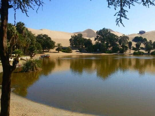 A Lagoon In A Desert Oasis
