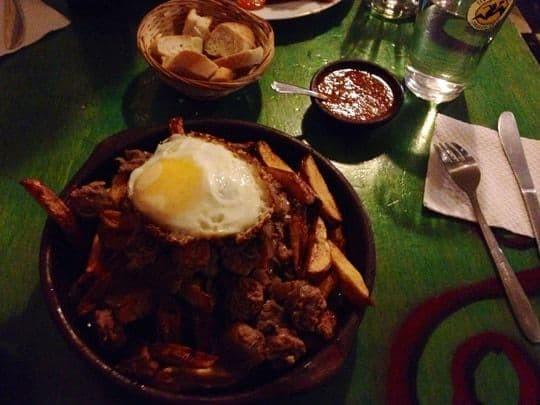 Chile food Valparaiso