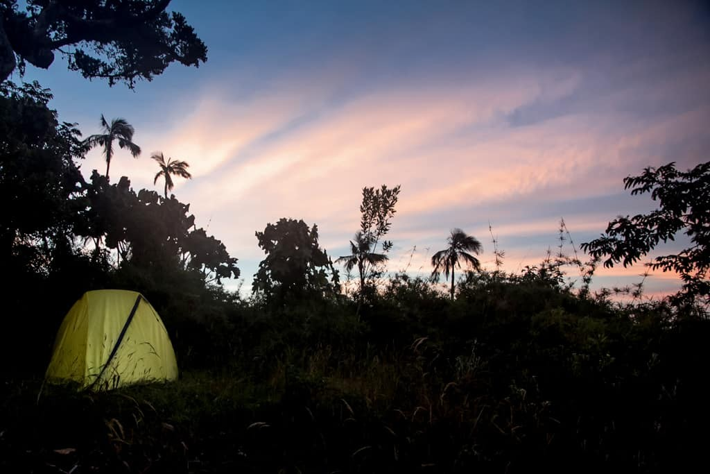 Camping at Cerro Kennedy