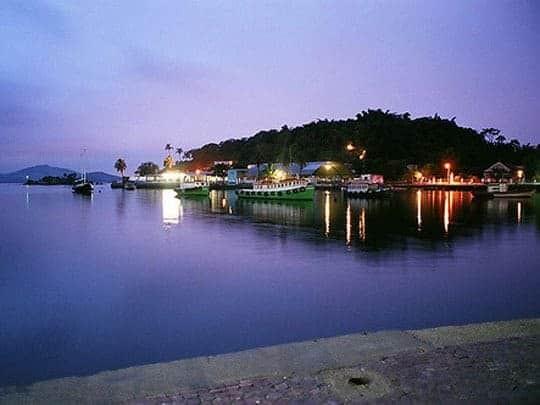 A Nighttime Scene Across The Water on Ilha de Paqueta