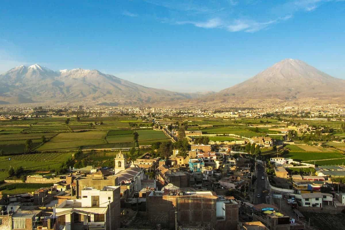 View across the rooftops of Arequipa