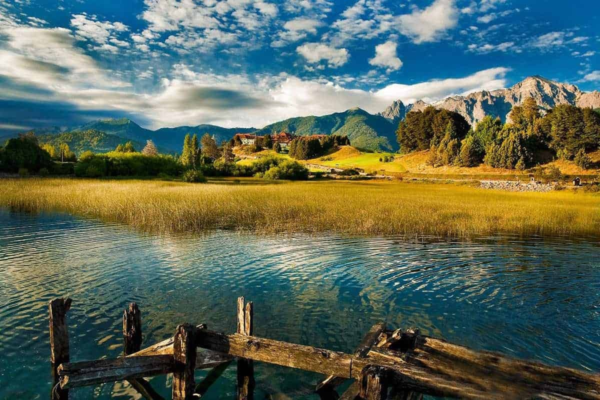 A view across the water in Bariloche, Argentina