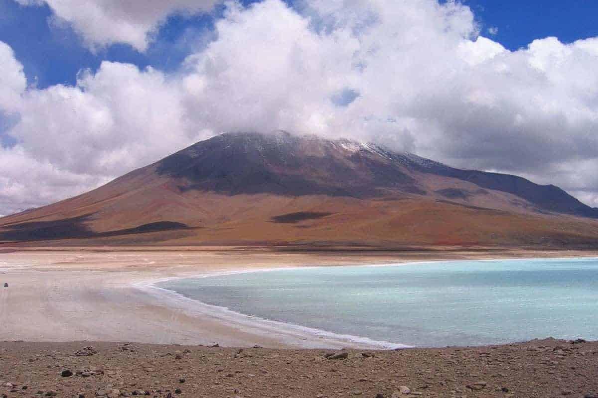 A Mountain And A Lake in Altiplano, Bolivia