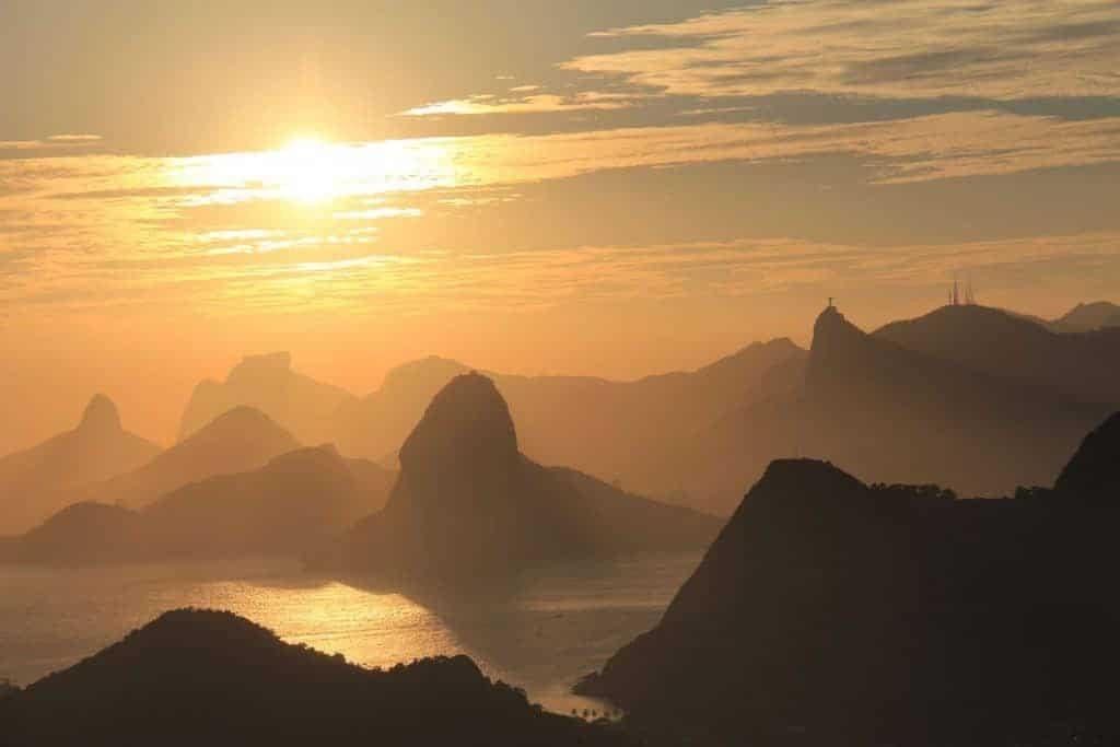A Sunrise Shot of Rio de Janerio, Brazil