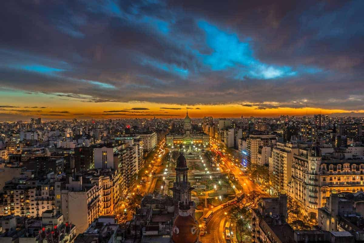 The Buenos Aires Skyline At Night