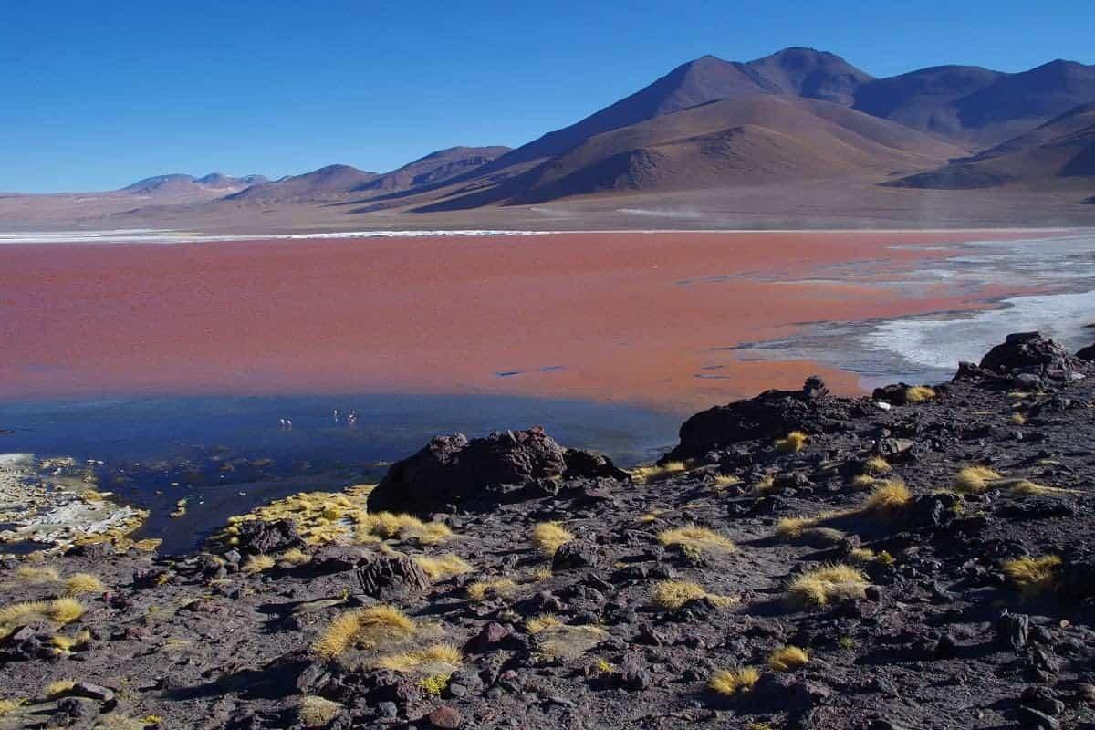 A stark landscape at Eduardo Avaroa Reserve, Bolivia