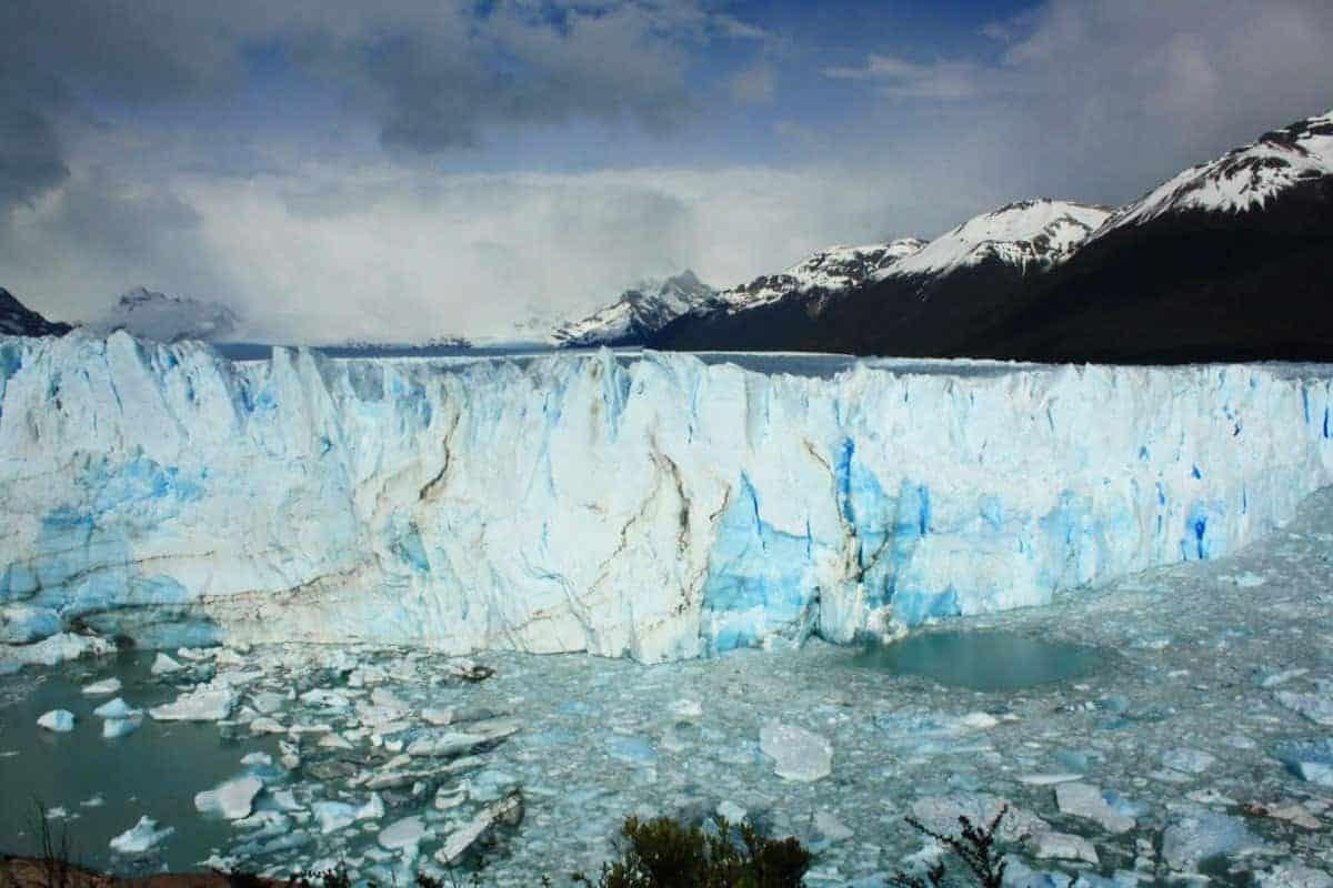 A glacier in El Calafate, Argentina