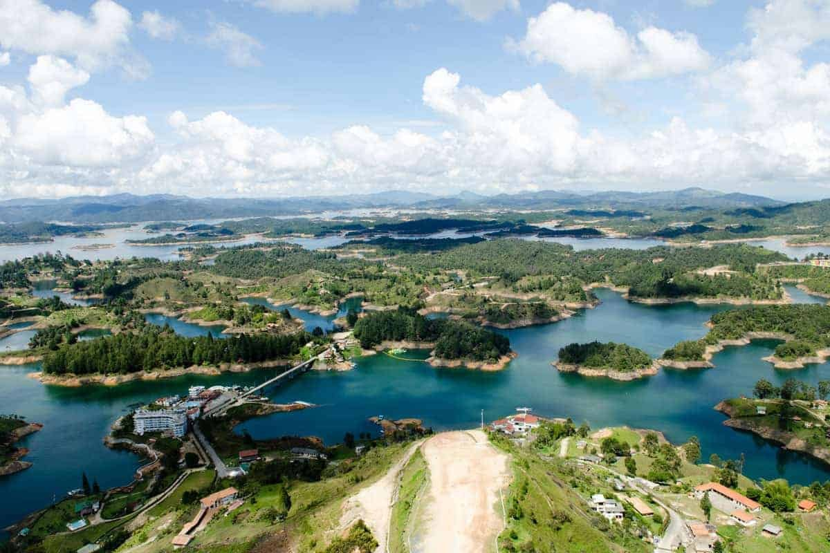 A series of islands on the river, Guatapé, Colombia