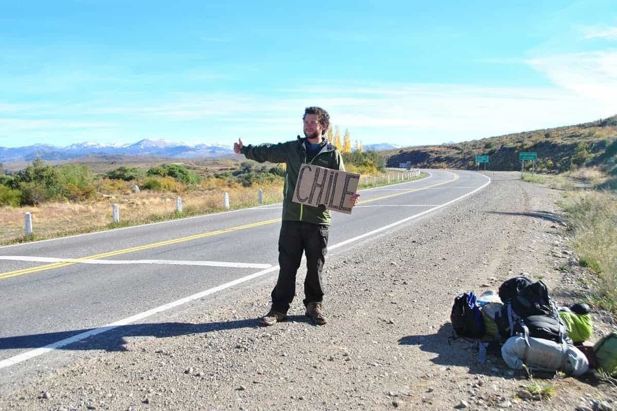Hitchhiking in South America.