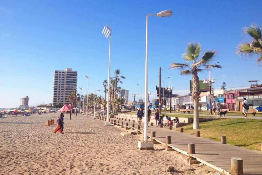 The promenade in Iquique