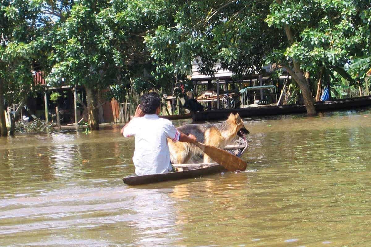 A Small Raft in Leticia Colombia