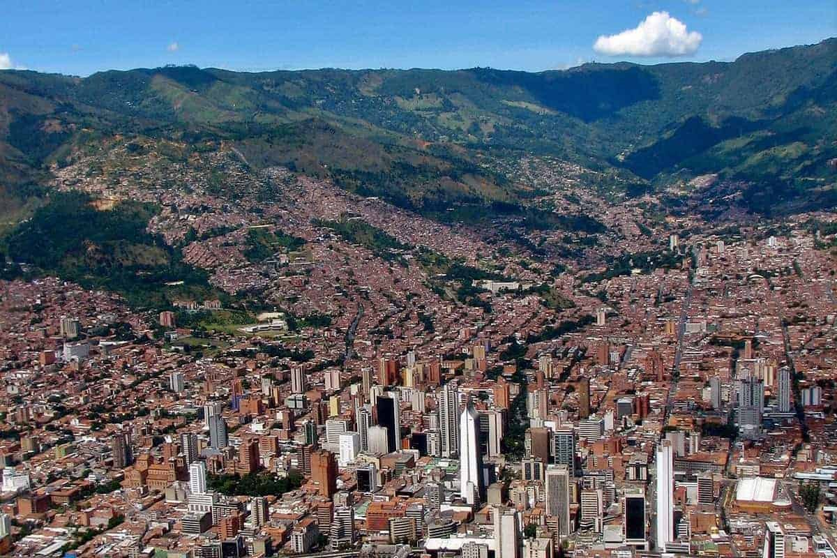 A view across Medellin from high up