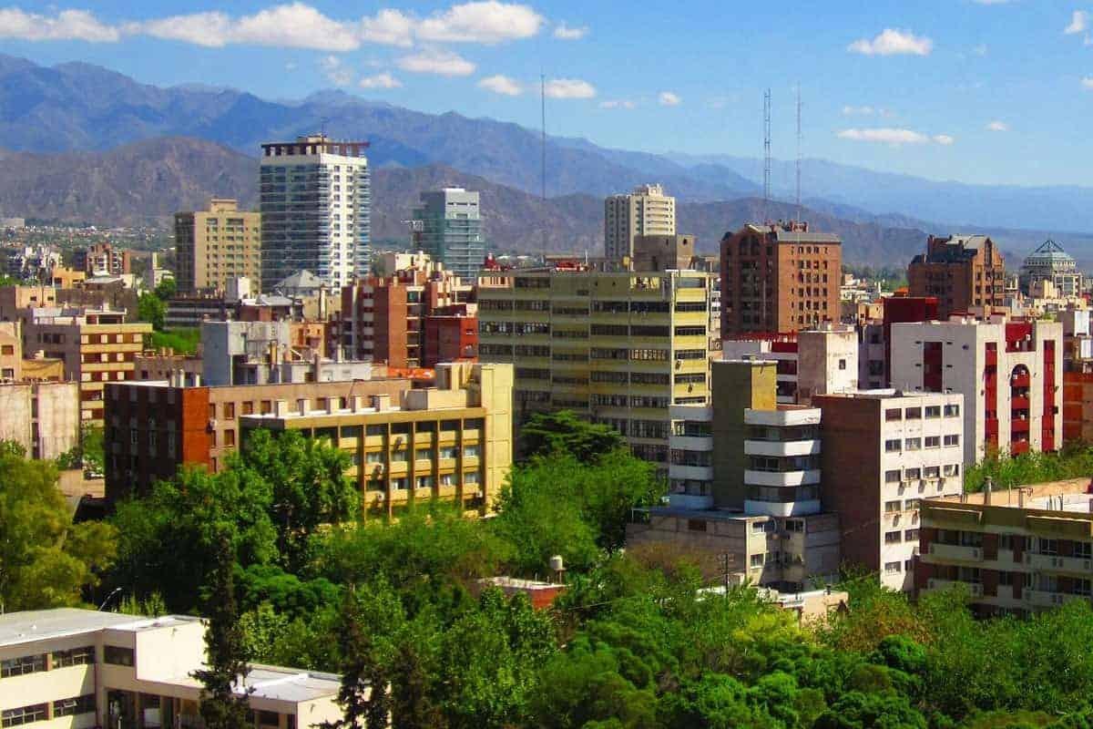 The city of Mendoza, Argentina.