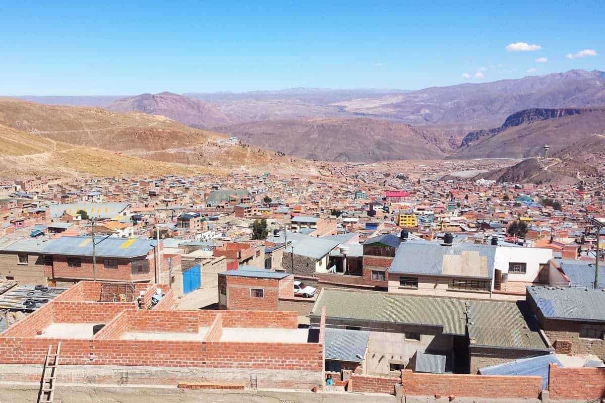 A view across rooftops in Potosi