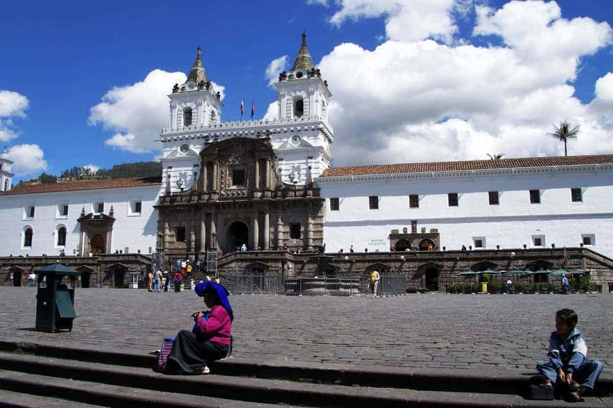 The plaza mayor in Quito, Ecuador