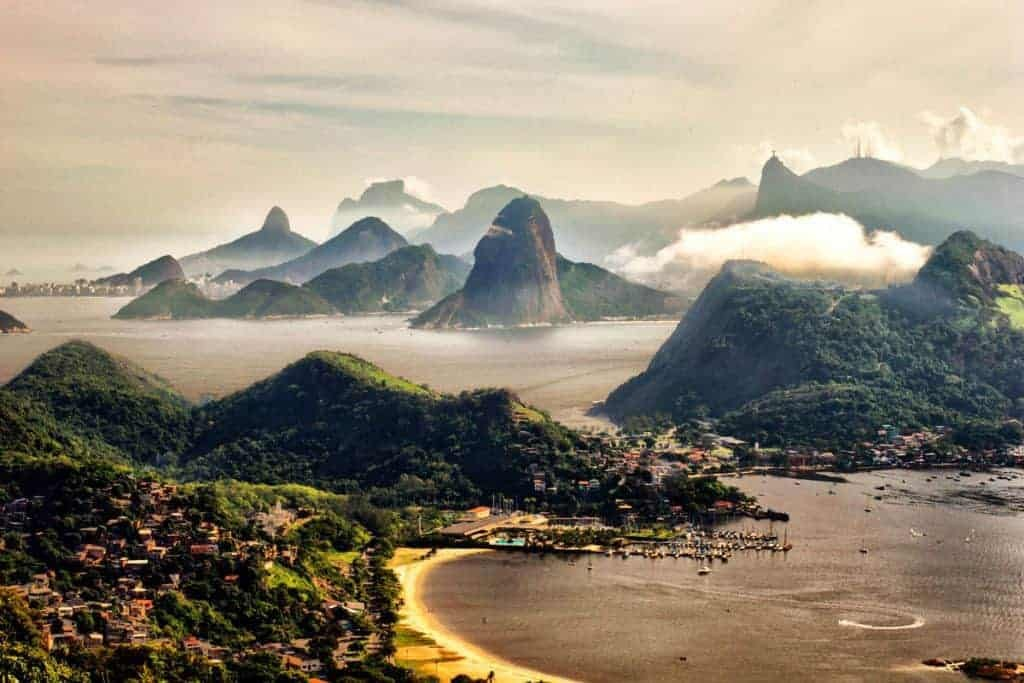 Rio De Janeiro in the mist