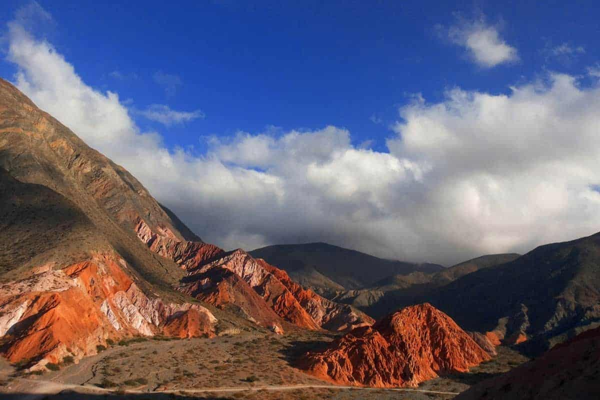 Red Rock Mountains in Salta, Argentina