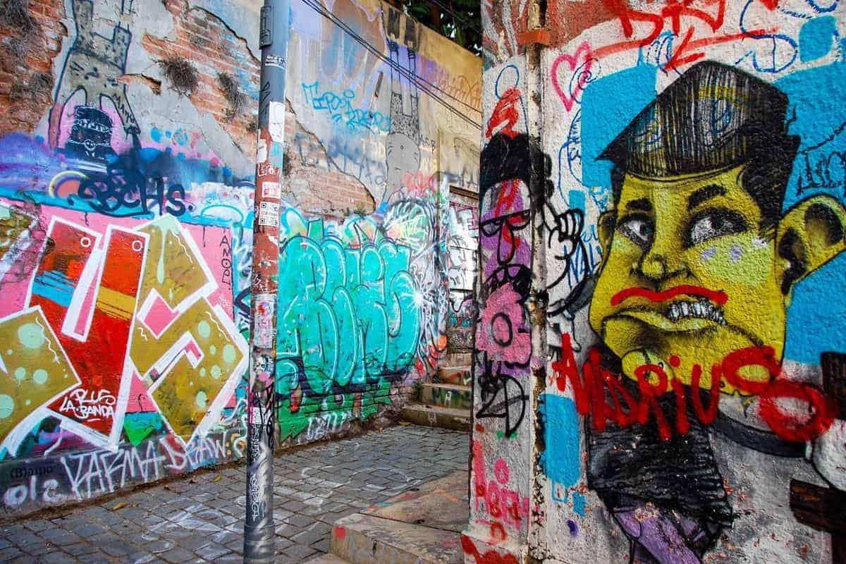 Graffiti in Valparaíso, Chile.