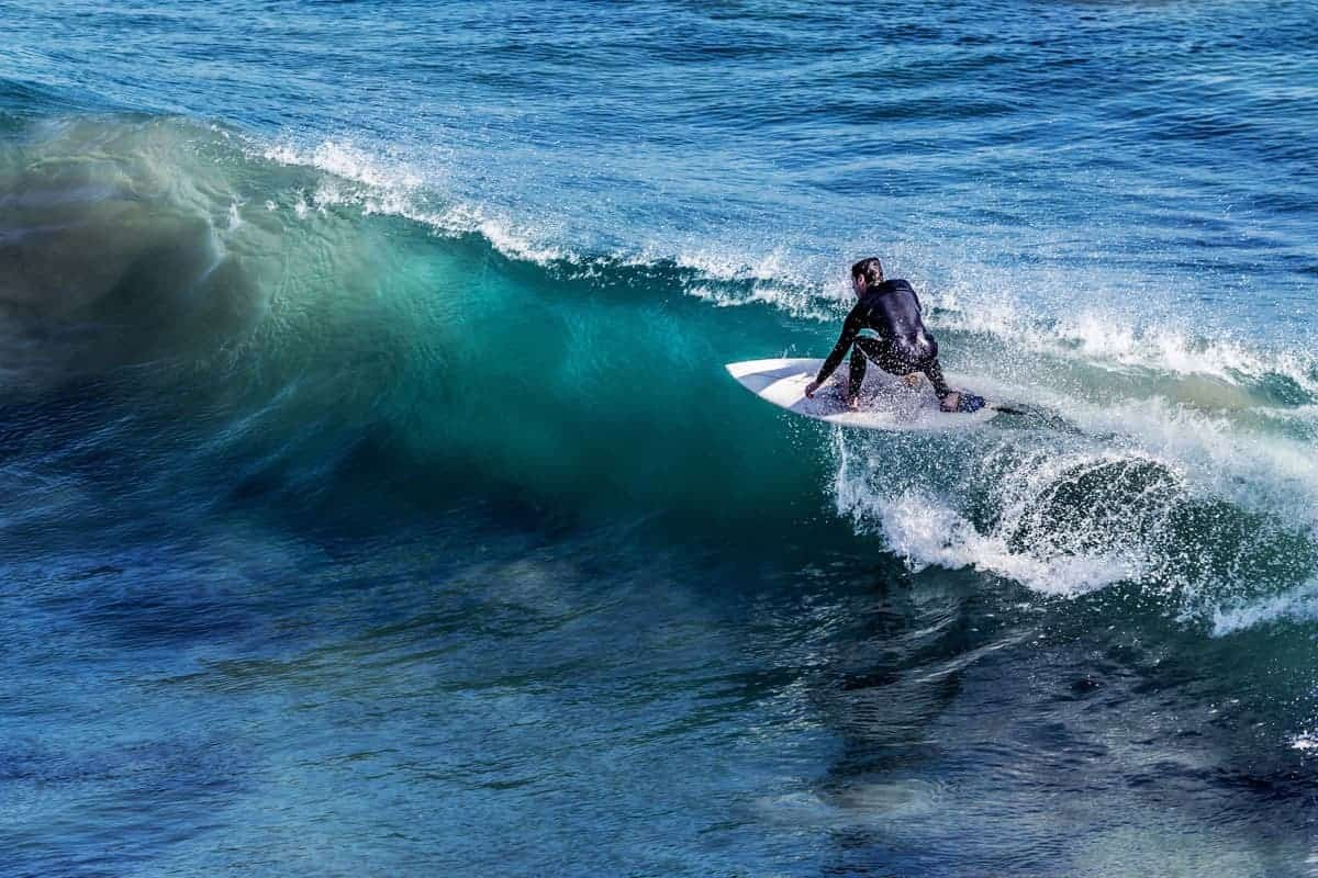 A surfer in Ayampe