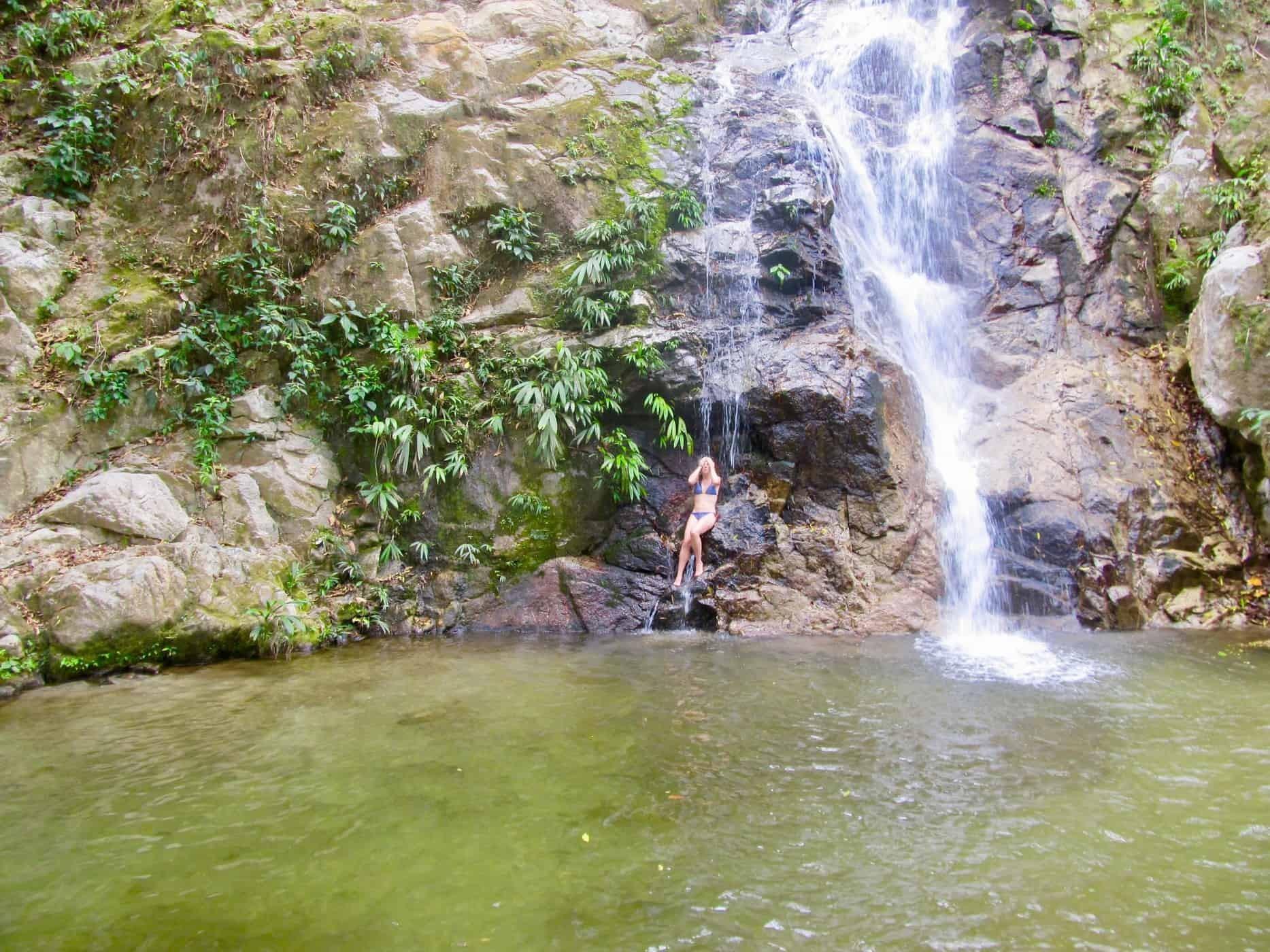 Las Cascadas de Marinka. Waterfall in Minca, Colombia.