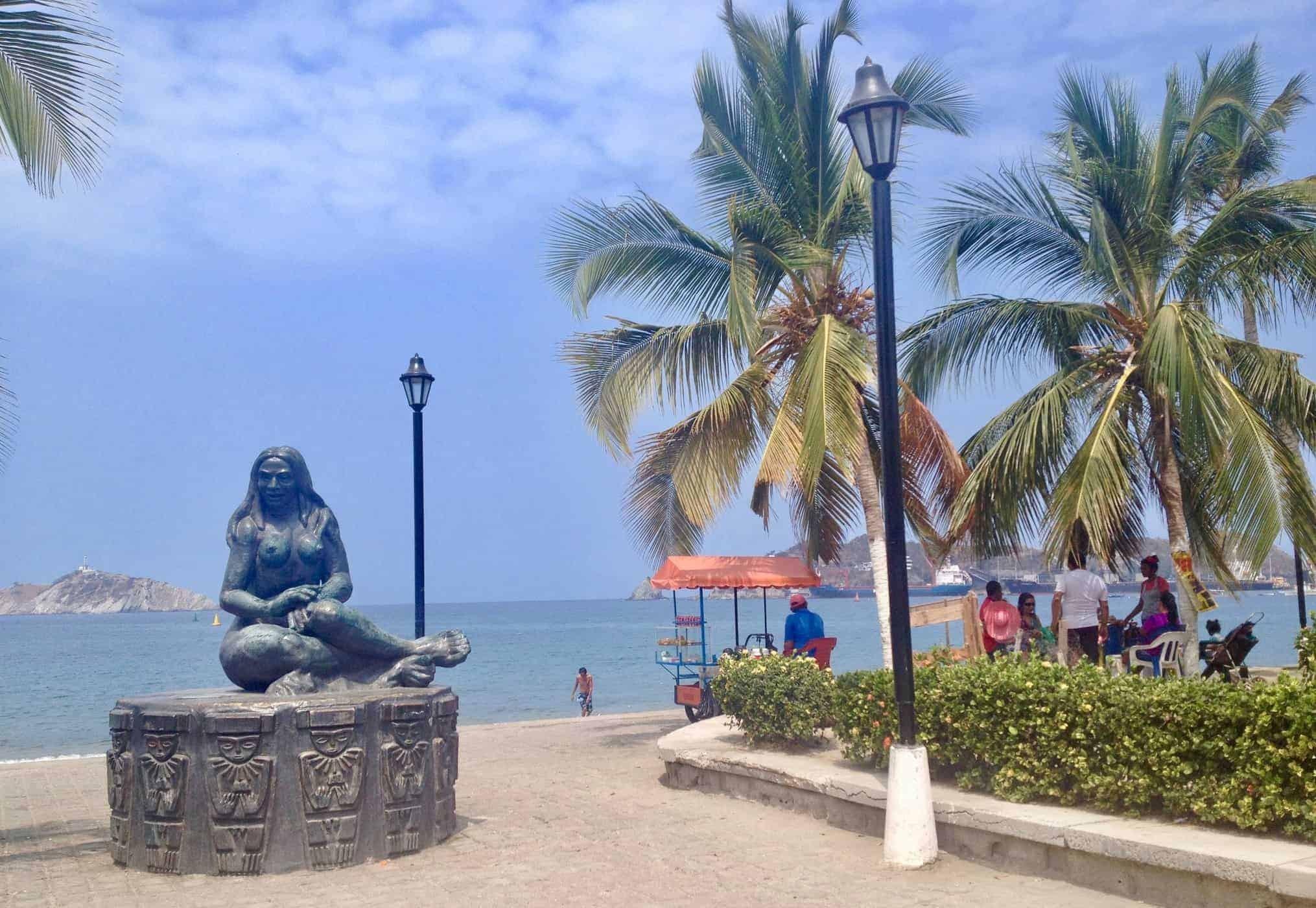 The sea front at Santa Marta, Colombia