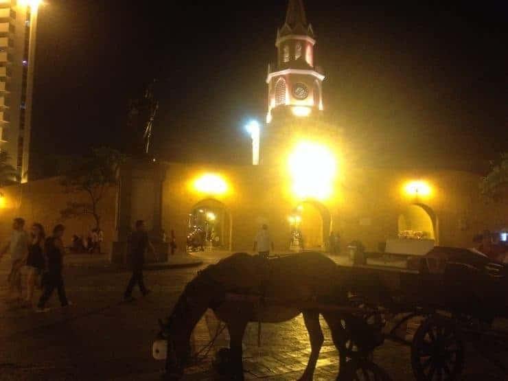Clocktower in Cartagena, Colombia.